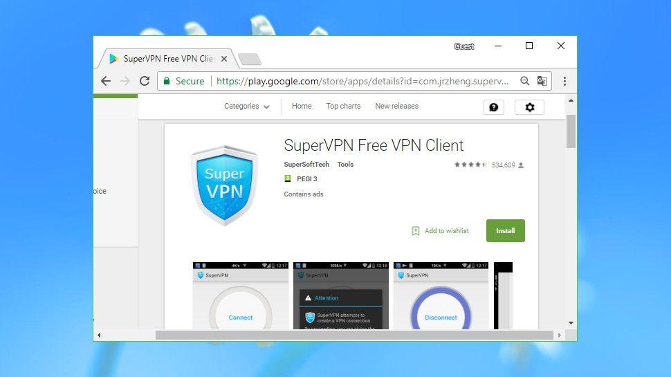 free vpn supervpn